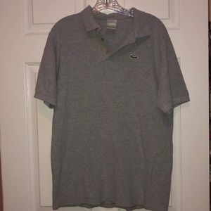 MENS LACOSTE POLO TOP GRAY SIZE 5
